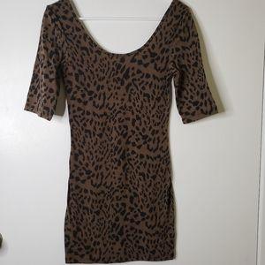 Timing Leopard Mini Dress